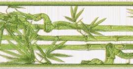 Бордюр Березакерамика Ретро 25x6.5, Бамбук, салатный