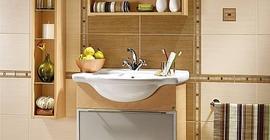 Дизайн ванной комнаты с коллекцией плитки Оригами бренда Azori