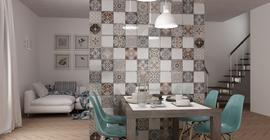 Дизайн интерьера с плиткой российского бренда Шахтинская плитка, коллекция Emilia