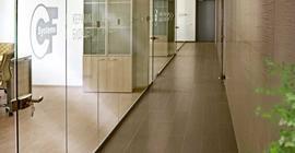 Плитка для офиса, лестницы, коридора, зданий, пола из коллекции Ампато бренда Керамика Будущего