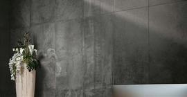 Крупноформатная настенная плитка серого цвета коллекции Хит Стил бренда Atlas Concorde