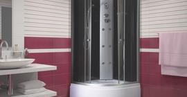 Душевая кабина бренда Niagara Коллекция 4000, прозрачные двери, с верхом и высоким поддоном