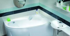 Дизайн ванной комнаты с сантехникой бренда VentoSpa коллекции Ника (Беларусь)