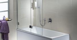 Шторка (ширма) на ванну Kolo Niven 125x140, левая