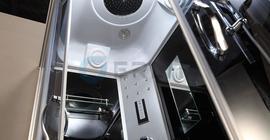 Душевая кабина Erlit ER4510P-C4, задняя стенка чёрная