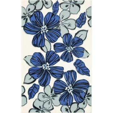 Плитка-декор настенный Paradyz Vivian 40x25, Blue, Kwiat