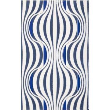 Плитка-декор настенный Paradyz Vivian 40x25, Blue, Fala