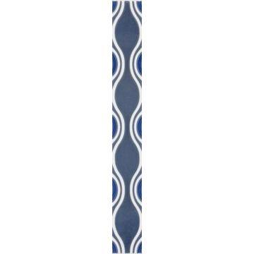 Бордюр Paradyz Vivian 40x4.8, Blue, Fala
