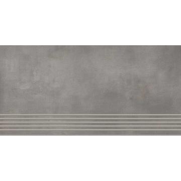 Плитка для ступеней Paradyz Tecniq 59.8x29.8, Silver, полуполированная