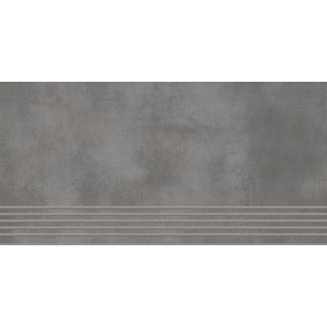 Плитка для ступеней Paradyz Tecniq 59.8x29.8, Grafit, полуполированная