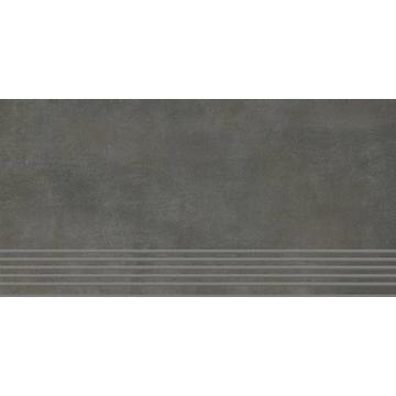 Плитка для ступеней Paradyz Tecniq 59.8x29.8, Nero, полуполированная