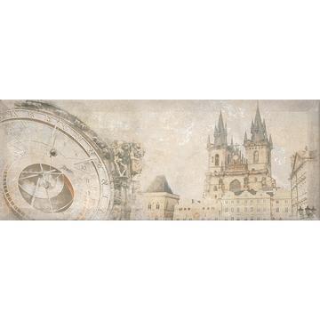 Плитка-декор настенный Интеркерама Antica 15х40, серый / Д 128 072-1