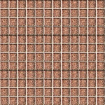 Плитка-мозаика настенная Paradyz 29.8x29.8, Brown Brokat, стеклянная