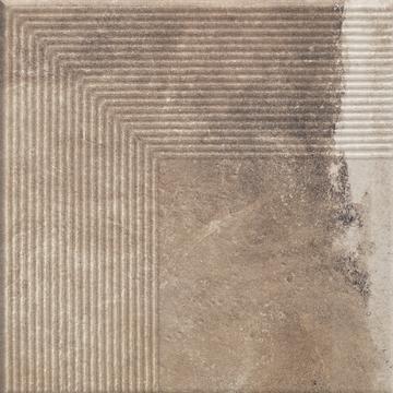 Напольная плитка Paradyz Scandiano 30х30, ochra ступень угловая