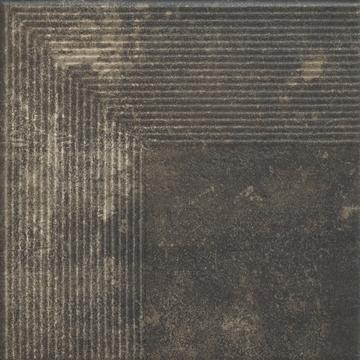 Напольная плитка Paradyz Scandiano 30х30, brown ступень угловая