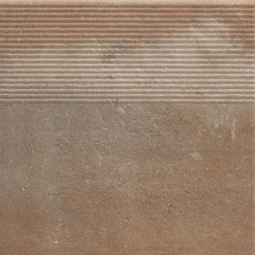 Напольная плитка Paradyz Scandiano 30х30, rosso ступень