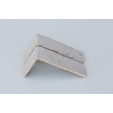 Настенная плитка, Угол Kаменный млын Stone Mill Кирпич шамотный 190x96 белый