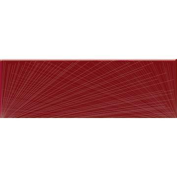 Плитка-декор настенный Paradyz Yoshioka 60x20, Karmazyn, стеклянный