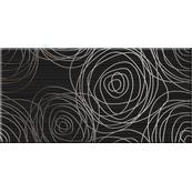 Плитка-декор настенный Belani День-ночь 50x25, черный