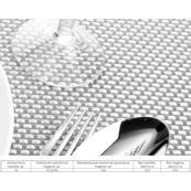 Плитка-панно настенное Березакерамика Рондо 35x25, Сервиз 2, черный