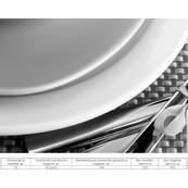 Плитка-панно настенное Березакерамика Рондо 35x25, Сервиз 3, черный