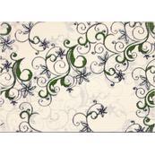 Плитка-декор настенный Березакерамика Азалия 35x25, фисташковый