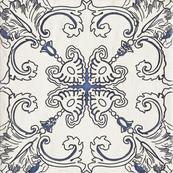 Декор А 19.8 x 19.8, бьянка, структурная