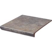 Плитка для ступеней Paradiz VIANO 30.0х33.0, серый, с капиносом