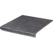 Плитка для ступеней Paradiz VIANO 30.0х33.0, антрацит, с капиносом