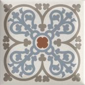 Плитка-декор настенный Paradyz Forcados 9.8х9.8, grys dekor C