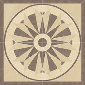 Плитка-панно универсальное Paradyz Arkesia 89.6x89.6, Mocca, Rozeta