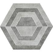 Плитка-декор универсальный Paradyz Scratch 29.8x26, Grys, Heksagon, A