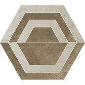 Плитка-декор универсальный Paradyz Scratch 29.8x26, Beige, Heksagon, C