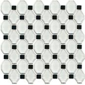 Плитка-мозаика настенная Paradyz Secret 29.8x29.8, Bianco, стеклянный