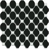 Плитка-мозаика настенная Paradyz Secret 29.8x29.8, Nero, стеклянный