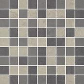 Плитка-мозаика универсальная Paradyz Mistral 29.8x29.8, Grys, резанная