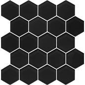 Плитка-мозаика настенная Paradyz Margarita 25.8х28, nero heksagon